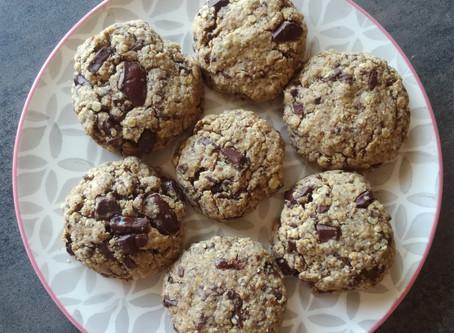 Cookies moelleux au chocolat (vegan & sans gluten)