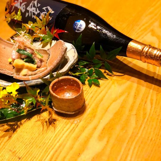 ぬた和え・日本酒