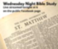Wednesday night Bible study go to public