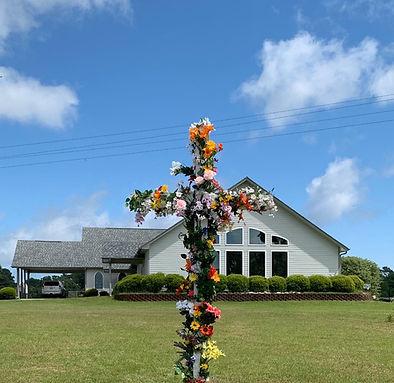 flowered cross and church 2020.jpg