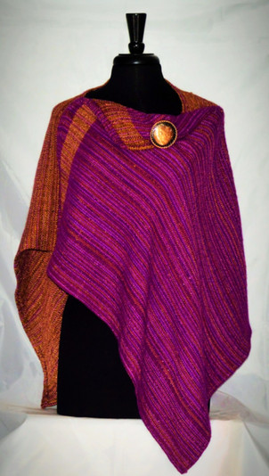 copper magenta crossover poncho