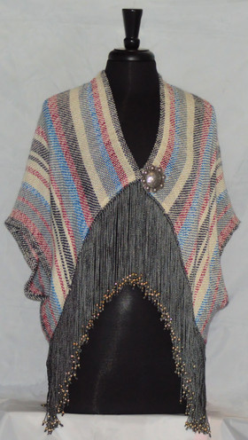 blue red fringed jacket