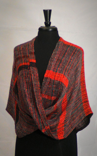 red black mobius poncho