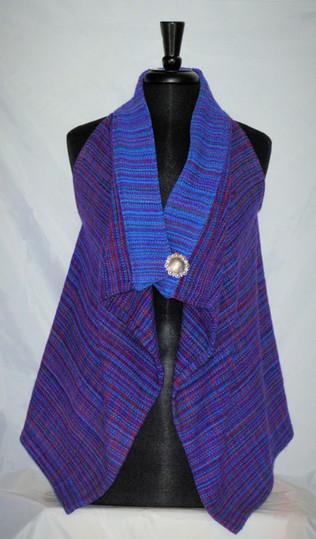 magenta turquoise vest