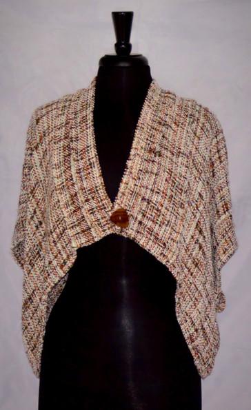white tweed pleated jacket