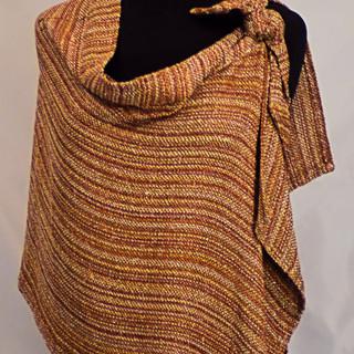 copper side tie cape