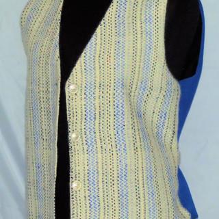 Blue suede vest