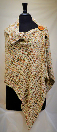 tweed collared poncho