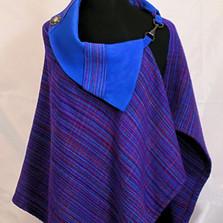 blue leathe collar cape