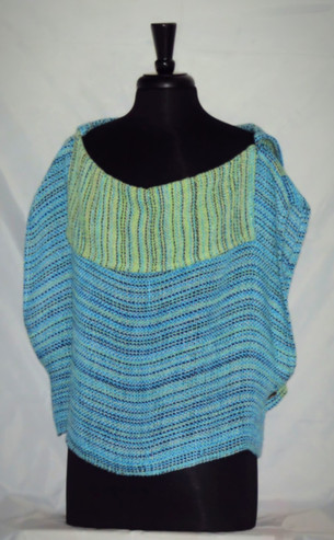 turquoise celery collared topper