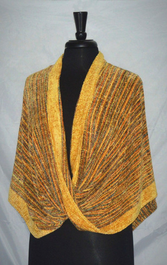 chenille yellow mobius wrap