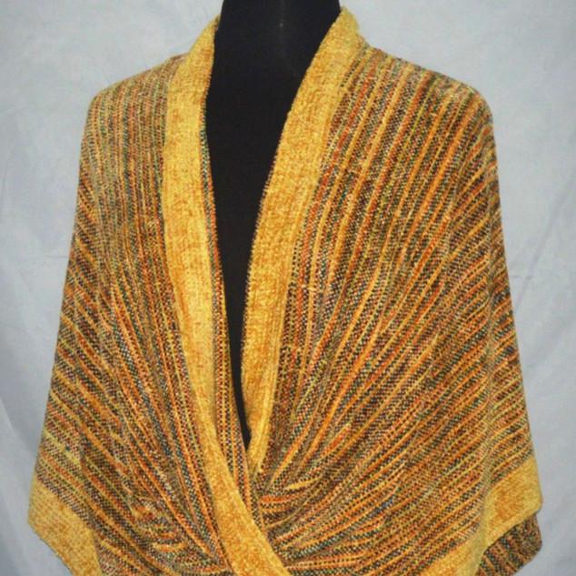 chenille yellow mobius wrap