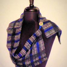 black blue scarf