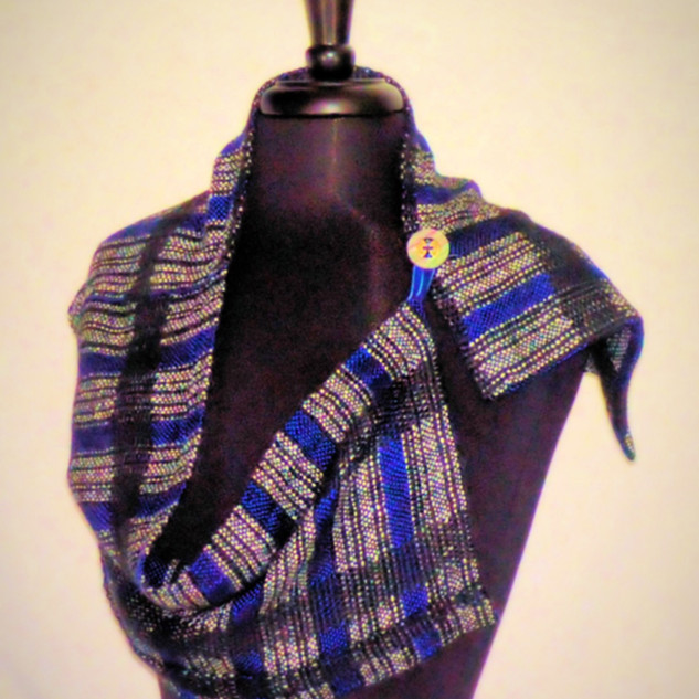 black blue scarf