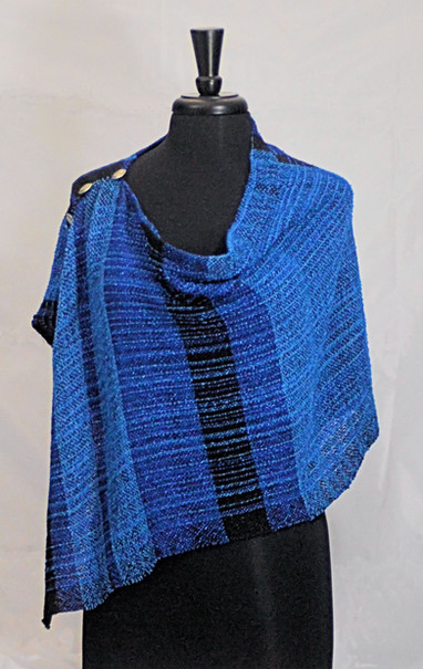 blues black poncho