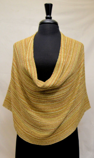 gold metallic cowl wrap