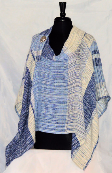 blue denim poncho