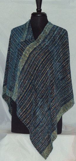 chenille turquoise crossover wrap