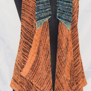 chenille rust vest