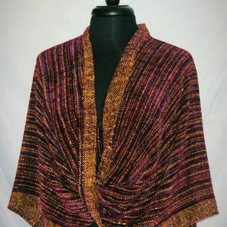 chenille maroon mobius wrap