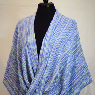 Blue Denim mobius poncho
