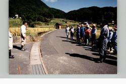 棚田オーナー稲刈り20010923a