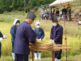 能楽奉納で抜き穂祭