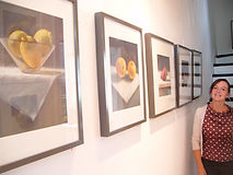 Devon Open Studios Exhibition Cath Beetham Pastel drawings and ceramics