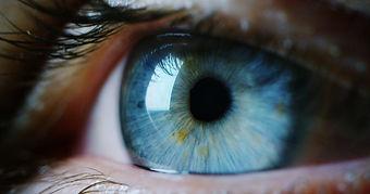 perfect blue eye macro in a sterile envi