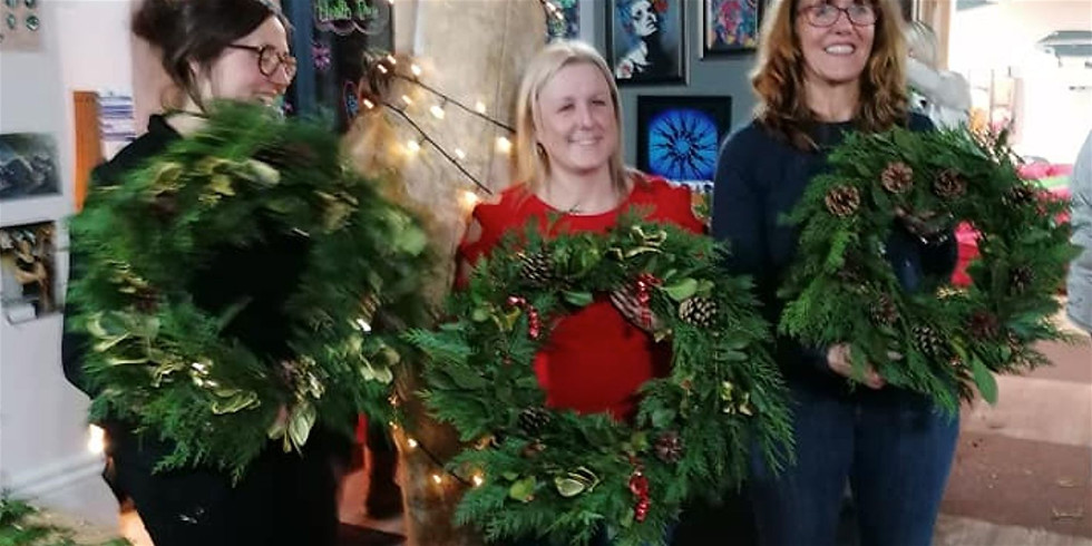 Christmas Wreath Making from natural materials and Festive Refreshments