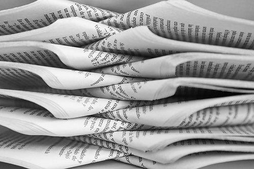 Impresión en B/N papel 80 grms