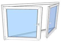 Vindu 2-rams drei og vipp med rømningspo