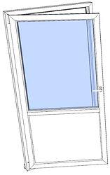 Balkongdør drei og vipp enkel rimelig mo