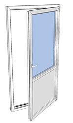 Balkongdør drei og vipp enkel vindusdør.