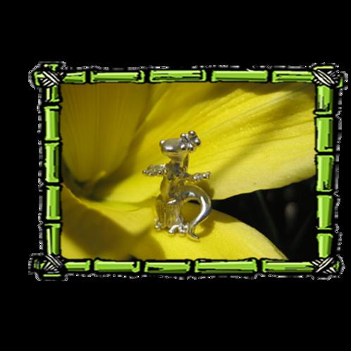 Hula Gecko | Sterling Silver Pendant