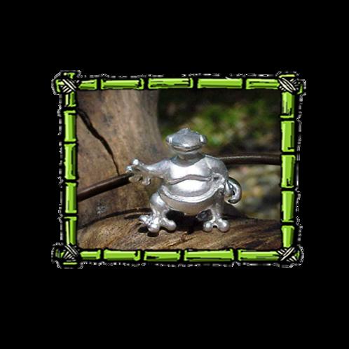 Sumo Gecko   Sterling Silver Pendant