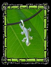 Fun Island Jewelry   Gecko Necklace