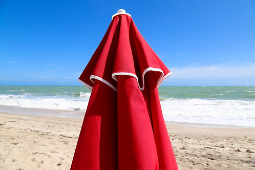 VENTED FIBERGLASS BEACH UMBRELLA