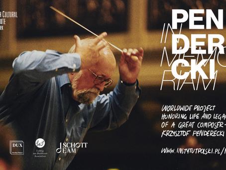 Krzysztof Penderecki in Memoriam
