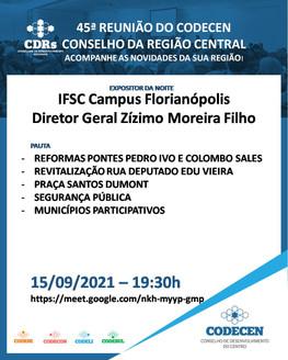 HOJE: 45ª reunião do Conselho do Centro