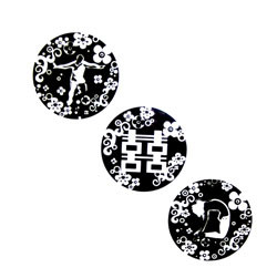 Dice Series - Three Black