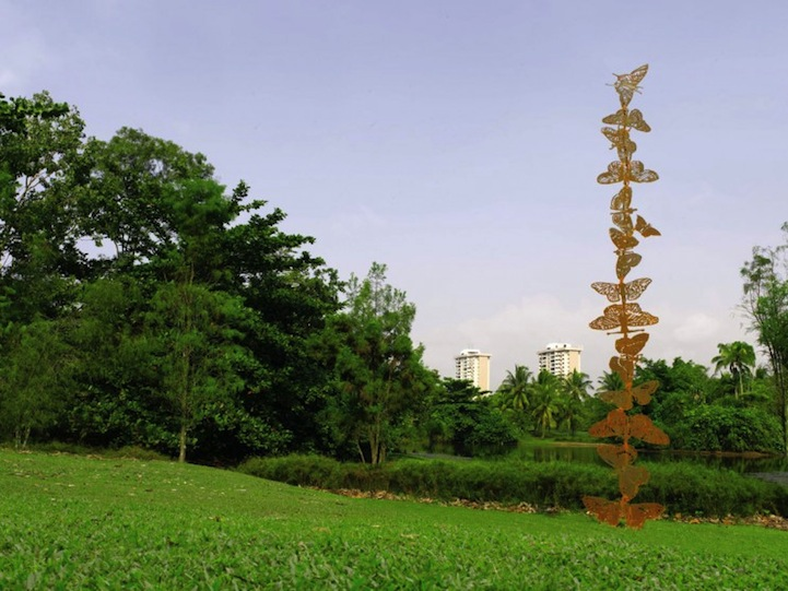 Steel Flowers and Tree Sculptures