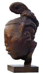 Head sculpture of an attendant