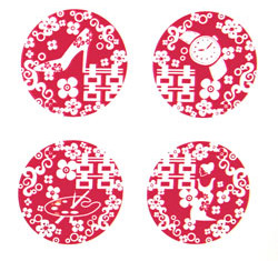 Dice Series - Four Red