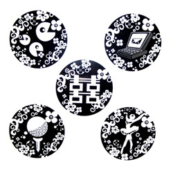 Dice Series - Five Black