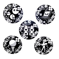 Dice Series - Five Black