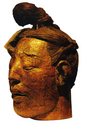 Head sculpture of a warrior No. 1