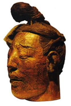 Head sculpture of a warrior No. 1