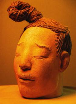 Head sculpture of a warrior No. 2