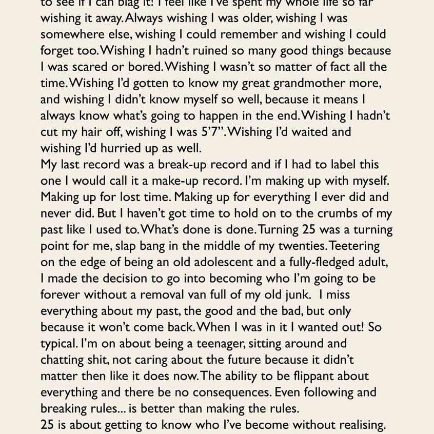 Carta de Adele